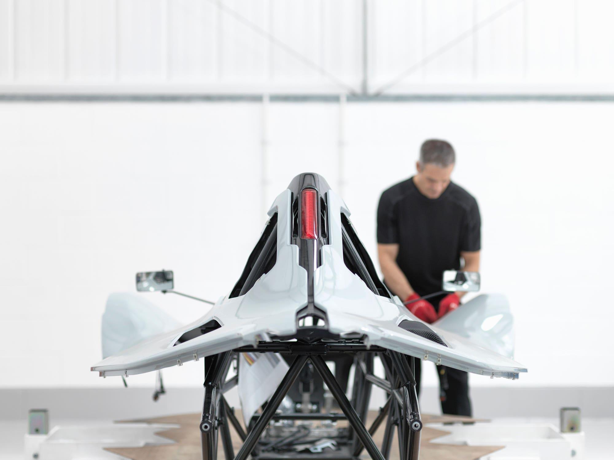 Carbon fiber racecar body shell