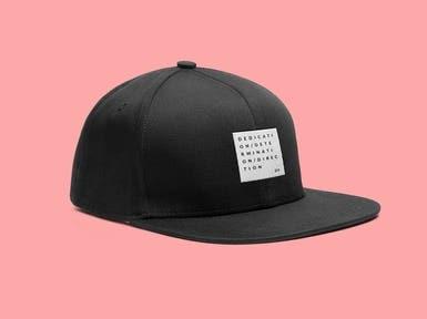 Logo Design on Black Cap