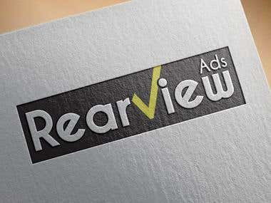 The logo was for a start up company in advertising called Rearview Ads. He did like something bold that could be seen from a distance as it could be quite small and on the back of a moving vehicle!