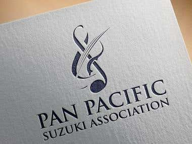 Simple, high-resolution, single colour logo for the Pan Pacific Suzuki Association (PPSA) which oversees the Suzuki Method of music teaching in the South Pacific region (currently Australia and NZ).