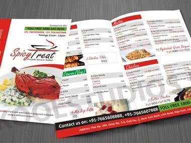 Menu Flyer designed for newly launched multicuisine restaurant. http://www.koolstudios.org/queryblog.aspx?bpi=13
