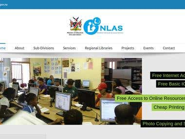 A responsive website for Namibia Library & Archives Service. www.nlas.info