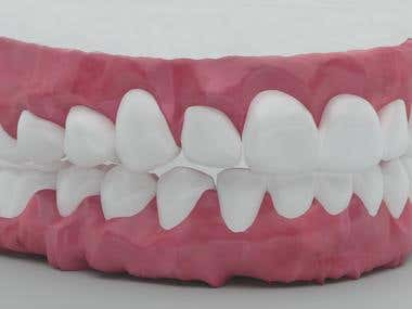 Jaw and teeth ( modeled and rendered in 3ds max )