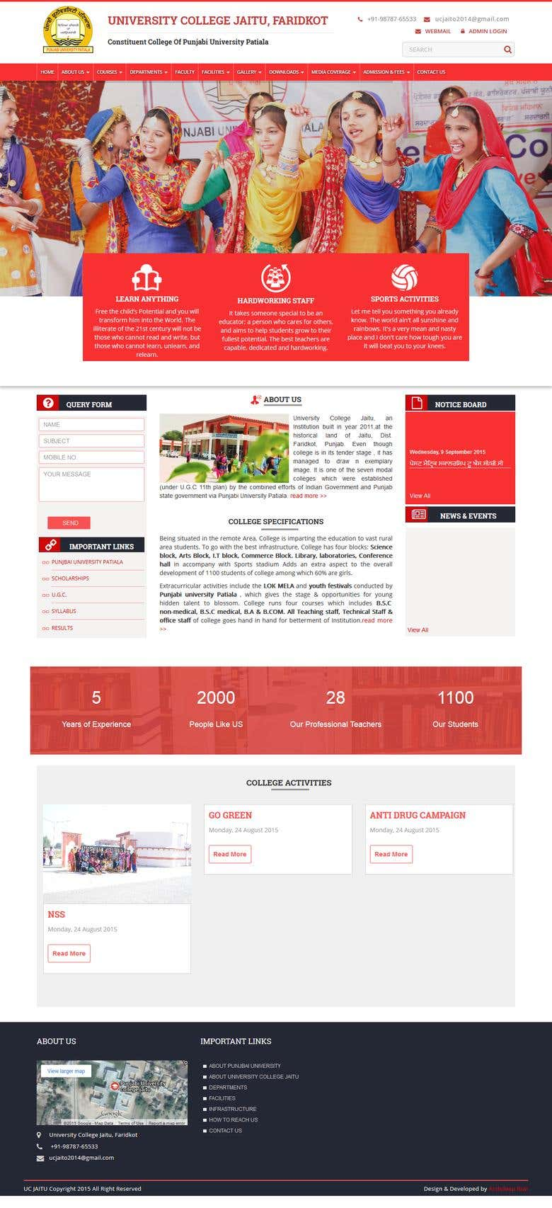 University Website - Wordpress