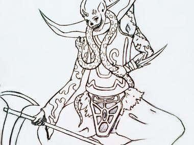 Old fantasy drawings