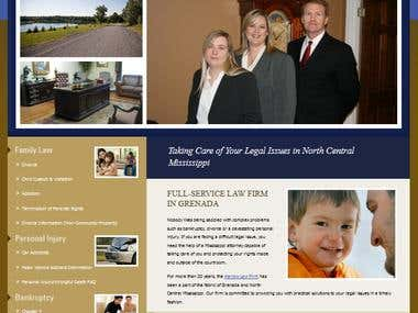Custom made fully dynamic Law Firm website.