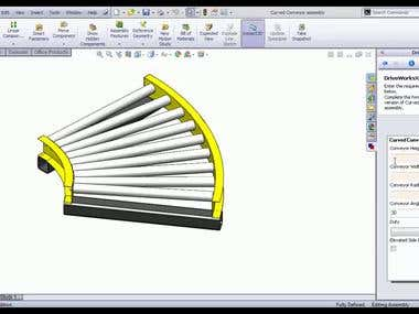 User Customize Conveyor Modeling And Drawing Generation by Automation