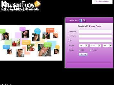 Khusurfusur.com is a basic social network website . in that have some basic modules like search friend, send requiest, upload images, youtube video etc