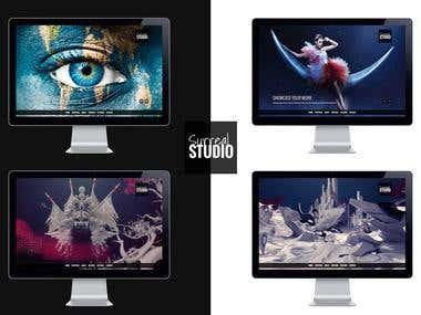 Studio Website with 4 separate Design