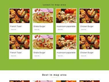 online check which is best food for place also share and talk with foods place and lots more.. online payment , profile, login and registration.  foods place using google map api, all map is cutomize, unique define place  client and admin registration