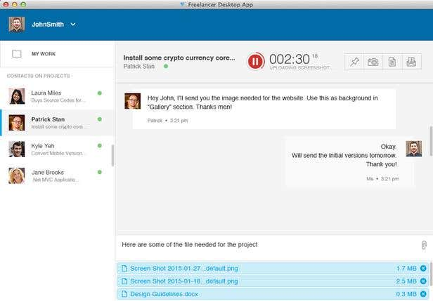 Share Files via the Freelancer Desktop App   Freelancer Blog