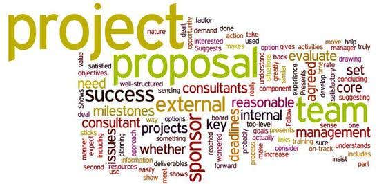 good project proposal - Project Proposal