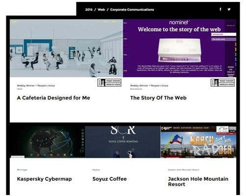 Webby Awards Corporate Communications website winners for 2015