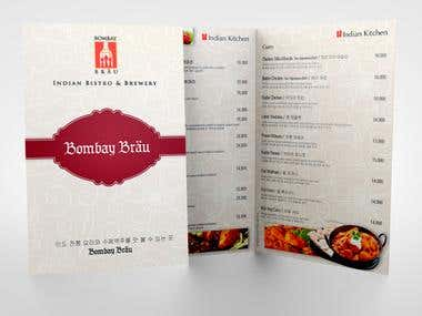 Menu for Bombay Brau - Indian Bistro & Brewery
