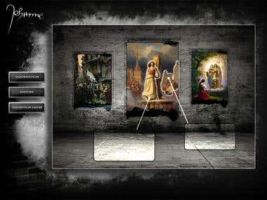 Jeanne d'Arc website mockup for museum exhibition