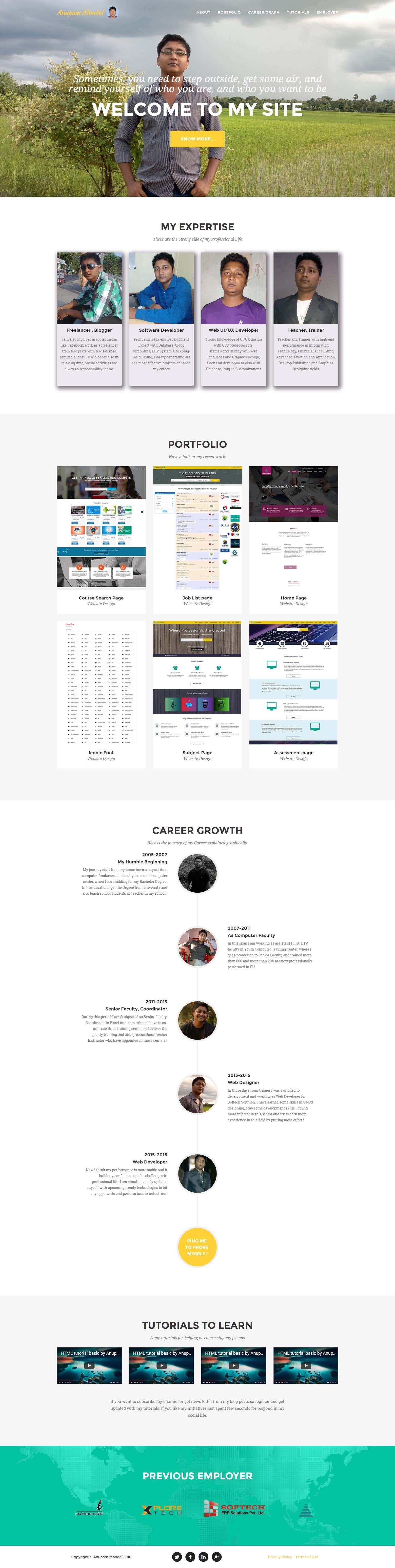 My Portfolio Site - http://www anupammondal com