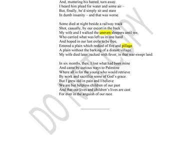 Transcribing Poems from Old book in PDF format into Word Doc.