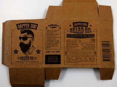 Box design for male grooming product!