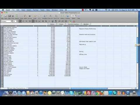 EXAMPLE OF WORKING WITH EXCEL TO REACH SEO ORIENTATION