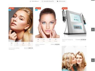 This website is for beauty and spa center in Australia.  It includes Gallery,Shopping cart(woocommerce platform), Gift card, quick contactand many things.