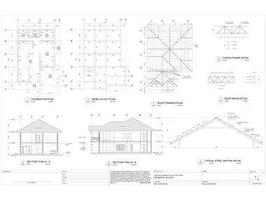 Some of my works in 2d using autocad software.