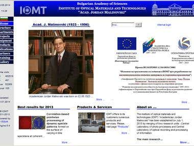 A bilingual corporate web site for a research institute.  http://www.iomt.bas.bg
