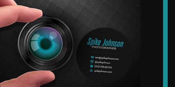 Rounded design for modern business card