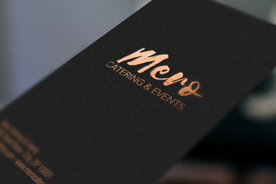 Gold design for modern business card