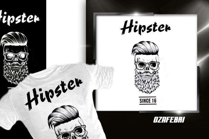 Zombie hipster t-shirt design idea