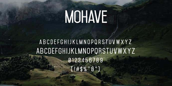 Mohave Free Font