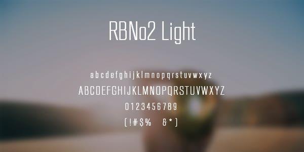 RBNo2 Light Free Font