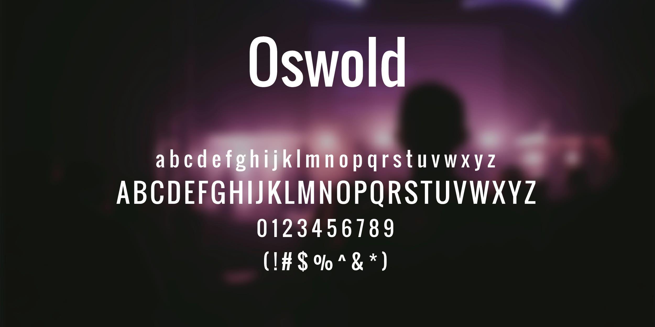 Oswold Free Font