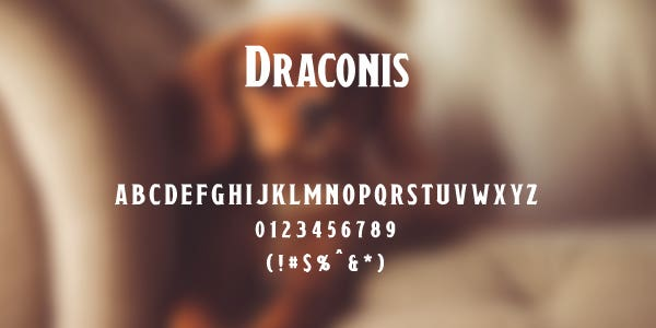 Draconis Free Font
