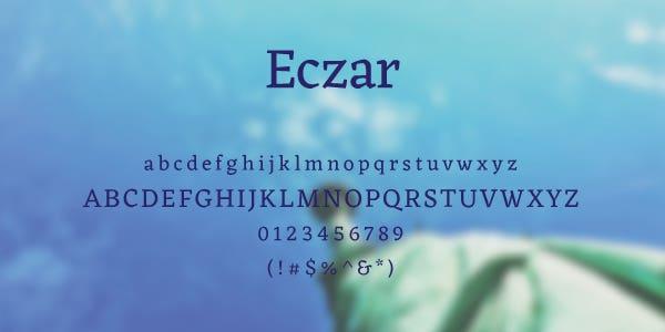 Eczar Free Font
