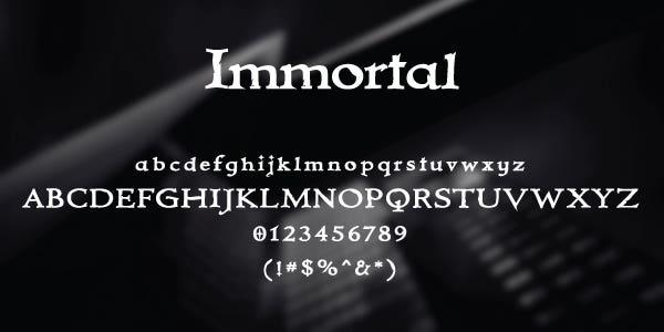 Immortal Free Font