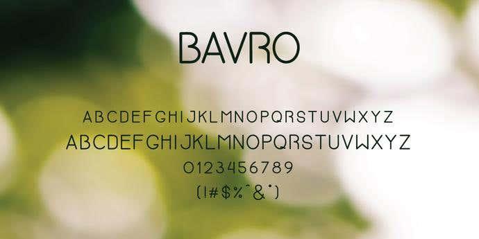 Bavro Free Font