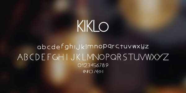 Kiklo Free Font