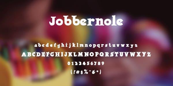 Jobbernole Free Font