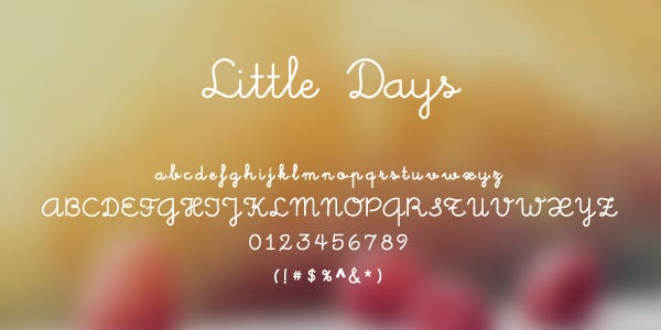 Little Days Free Font