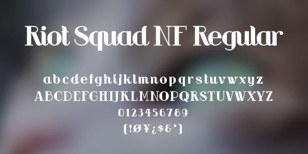 Riot Squad NF Regular Free Font
