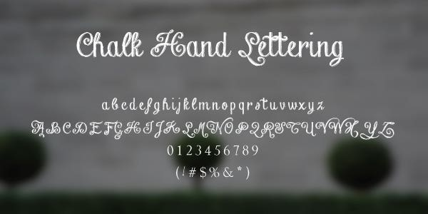Chalk Hand Lettering Free Font