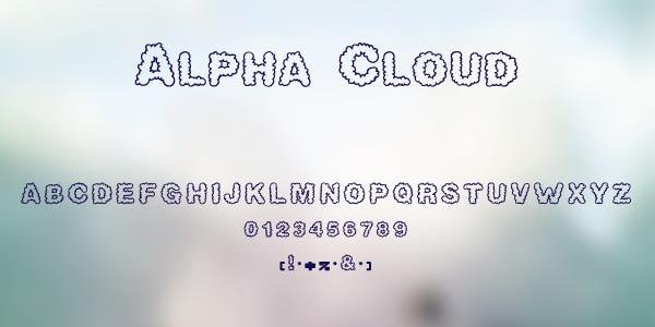 Alpha Cloud Free Font