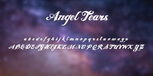 Angel Tears Free Font