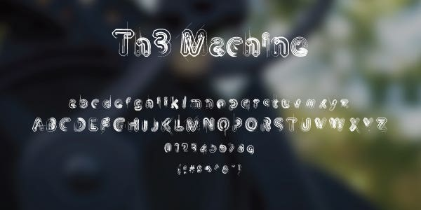 The Machine Free Font