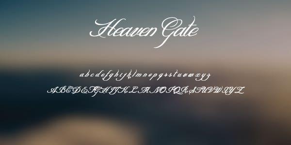 Heaven Gate Free Font