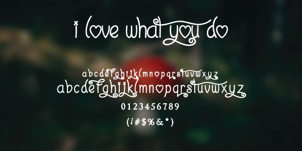 I love what you do free font