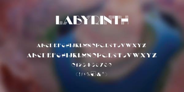 Labyrinth Free Font