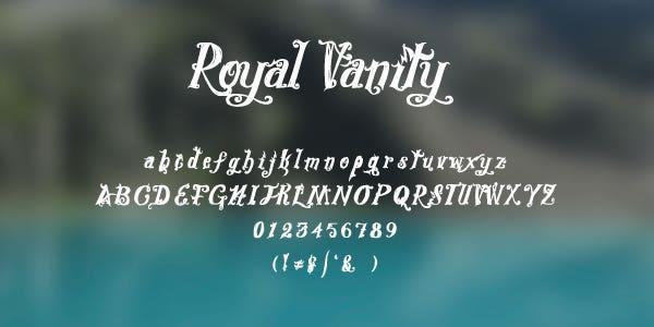 Royal Vanity Free Font