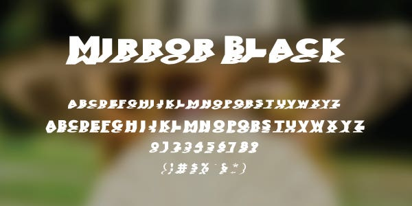 Mirror Black Free Font