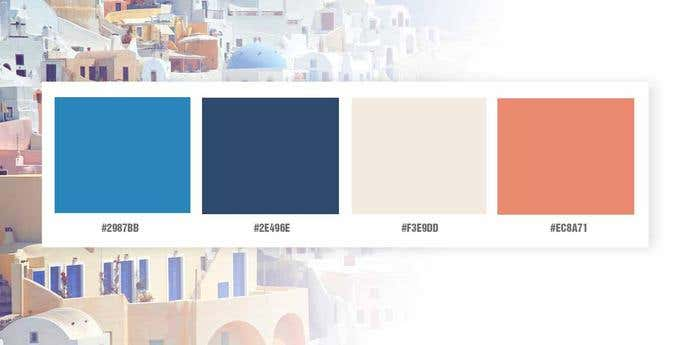 Grecian Holiday Color Palette